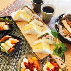 朝ごはん/お願い片付けて/サンドイッチ/旦那ご飯/LIMIAごはんクラブ/おうちごはんクラブ サンドイッチ ポトフ その他全部夫作  …