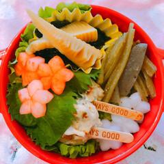 たけのこ/女子高生弁当/お弁当/LIMIAごはんクラブ/おうちごはんクラブ 今日の娘のお弁当  筍頂きました。