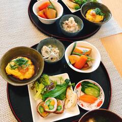 和食/あさごはん/セリア 旦那が作った朝ごはん