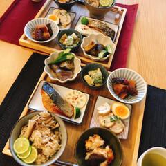 シャインマスカット/手作りご飯/和食/夫作/朝ごはん/ダイソー/... 朝ごはん夫作♪ おすすめは 椎茸の里芋詰…