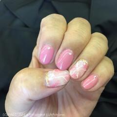 ジェルネイル/ネイルアート/ピンクネイル/春ネイル/小さい春 今月のネイルは春色ピンクです♡ グレージ…