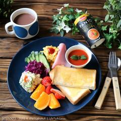 ガスパチョ/朝ごパン/朝食/ブランチ/ランチ/PANTO/... 今日は久々のお休みに朝寝坊のオッサン。 …