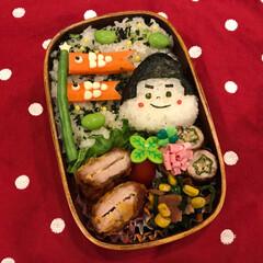 フード/旦那さん弁当/今日のお弁当/お弁当 今日のお弁当は 金太郎😆弁当・・・といい…