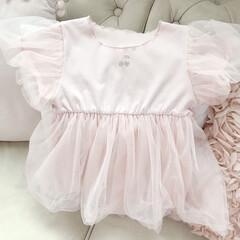 バースデーフォト/お誕生日会/さくらんぼ/アレンジ/女の子ママ/娘コーデ/... イベント用にむすめのドレスを 楽天で購入…
