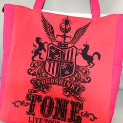 Tシャツリメイク/リメイクバッグ/東方神起 2012年のTONEのライブTシャツを使…