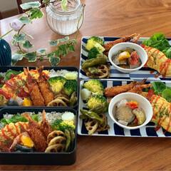 作り置きおかず/作り置き/常備菜/お昼が楽しみになるお弁当/お弁当作り/お弁当/... おはようございます😃 オムレツ4つに時間…