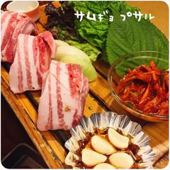 大根と山芋のサラダ/サムギョプサル/トッポギ/チヂミ/チーズタッカルビ/韓国料理/... *:,.:.,.*2019.3.26(T…