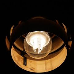 オシャレ/エジソン電球/LED電球/Googleホーム/トロードフリ/ルームライト/... リビングのシーリングライト。  電球は例…(2枚目)