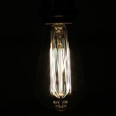 フィラメント電球/照明器具/ビンテージランプ/オシャレ/ルームライト 美しいフィラメントに癒される。 エジソン…