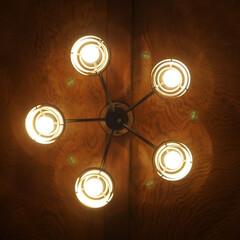 オシャレ/エジソン電球/LED電球/Googleホーム/トロードフリ/ルームライト/... リビングのシーリングライト。  電球は例…(3枚目)