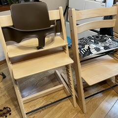STOKKE トリップトラップチェア TRIPP TRAPP 子供椅子 ダイニング ベビー チェア イス ストッケ社   トリップトラップ(ベビーラック、チェア)を使ったクチコミ「ストッケのトリップトラップを買い増し&ベ…」(1枚目)