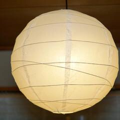 LED電球/トロードフリ/オシャレ/照明器具/ルームライト/IKEA 和室の寝室にて。  調色可能なLED電球…