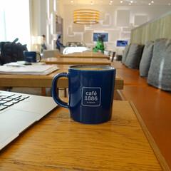 カフェ/マグカップ/朝活 カフェで朝活!カプチーノうまし  caf…