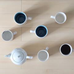 マグカップ うちにある白いマグカップ集合!  真上か…