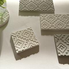 花びん/花瓶/珪藻土コースター/珪藻土/キャンドゥ/ダイソー/... キャンドゥで見つけた珪藻土コースター。 …
