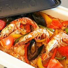 ホットプレート料理/ホットプレート/簡単料理/ブルーノ料理/ブルーノホットプレート/ブルーノ/... コストコで売っているブイヤベースを使って…
