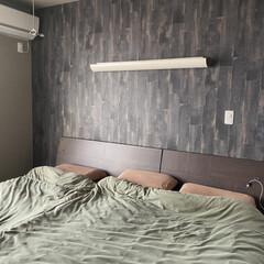 アクセントクロス/ベッドルーム/ベッド/寝室/部屋全体/ニトリ (1枚目)