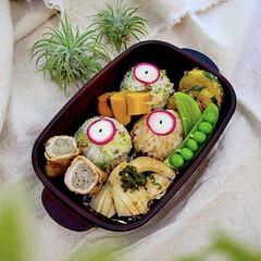 肉巻き/野菜たっぷり/ランチ/冷凍保存/おにぎり/フォロー大歓迎/... お米を炊くのを忘れて、急遽冷凍保存してお…