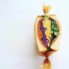 カラフル/サンドイッチ/わんぱくサンドイッチ/わんぱくサンド/わたしのごはん/令和元年フォト投稿キャンペーン/... カラフルに! WANPAKU SAND!…(1枚目)