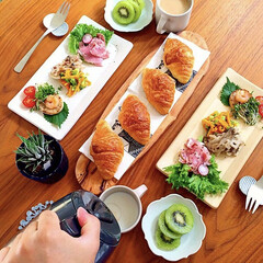 朝食/野菜たっぷり/わたしのごはん/朝ごはん/おうちごはん/令和元年フォト投稿キャンペーン/... ミニクロワッサンで朝ごはん。 野菜もたっ…