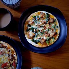 ワンプレート/朝ごはん/トルティーヤ/ピザ/LIMIAごはんクラブ/おうちごはんクラブ/... トルティーヤ生地でピザ。 カリカリの薄い…