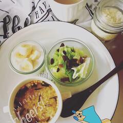 朝ごはん/玄米/おからパウダー/ダイエット食/ダイエット/おうちごはん/... 玄米リゾット。これまた腹持ちが良さそう😁
