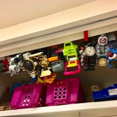 おもちゃ収納/仮面ライダーベルト/DIY/インテリア/住まい/収納 仮面ライダーベルト収納。 何気にでかいし…