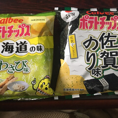 佐賀のり/山わさび/北海道の味/ポテトチップス/佐賀の味 47都道府県の味。 やっと再会した佐賀の…