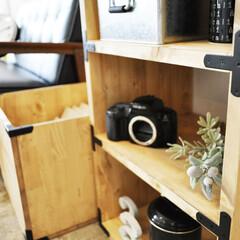 DIY/壁面収納/はしご型/収納/穴あけ不要/インテリア/... お気に入りの小物に合わせたシックな棚をつ…