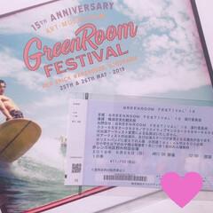 屋外フェス/野外フェス/海/ビール/フェス/赤レンガ倉庫/... 来月のフェスのチケットが届きました〜〜❣…