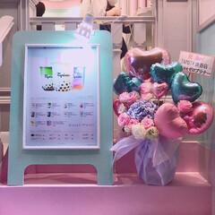 映え〜/可愛い/パステルカラー/ゆめかわいい/ピンク/グルメ/... 渋谷に新しくできていたタピオカ屋さんを発…