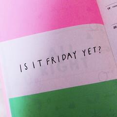 土曜日になりました/夜更かし/pink/ピンク/金曜日/stationary/... 始めてみました☺︎ どんなことを投稿しよ…