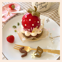 手作りパン/手作りお菓子/わたしのごはん/スイーツ 苺みたいなラズベリ〜*ム〜スタルト(˘͈…