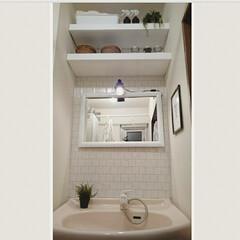 突っ張り棚/洗面所収納/洗面所/現状回復可/賃貸/DIY/... 洗面所の模様替えをしました♪