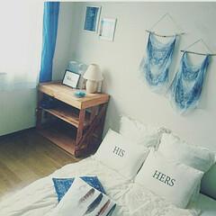 ニトリ/西海岸インテリア/海を感じるインテリア/キャンドゥ/100均/セリア/... 寝室を爽やかで夏っぽくコーディネート☆