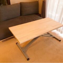 昇降式/リサイクル/リメイク/リビング/フォロー大歓迎/DIY/... 何かと便利な昇降式テーブル。でも欲しいサ…
