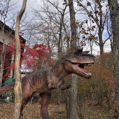 ホテル/恐竜/秋/風景/おでかけ/旅 泊まったホテルは恐竜がお出迎えしてくれま…