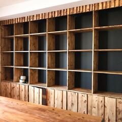 BRIWAX ブライワックス トルエンフリー 08 ジャコビアン 370ml B | ニッペホームオンライン(ワックス)を使ったクチコミ「壁面の凹み部分に合わせて本棚を作りました…」