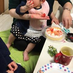 誕生日/誕生日フォト/誕生日パーティー/平成最後の一枚/春のフォト投稿キャンペーン/LIMIAごはんクラブ/... 1歳の誕生日祝いご飯  両家の親を家に招…(6枚目)