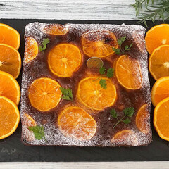 手作りスイーツ/手作りおやつ/手作りお菓子/手作りケーキ/オレンジケーキ/春のフォト投稿キャンペーン/... 清見オレンジをいただき 早速シロップ漬け…