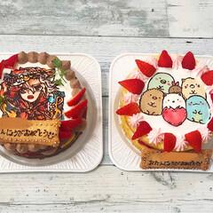 すみっコぐらし/モンスト/バースデーケーキ/誕生日ケーキ/キャラデコケーキ/ネイキッドケーキ/... お友達の息子くんと娘ちゃんに キャラデコ…