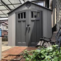 ハンドメイド/DIY女子/工房/セルフリノベーション/物置き/DIY収納/... 『私の作業部屋』 物置の内装をセルフリノ…