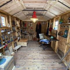 フルトン ソーホースブラケット 鉄 2個 400SHB(作業台、ワークテーブル)を使ったクチコミ「2か月かけてDIYで作った『私の作業部屋…」