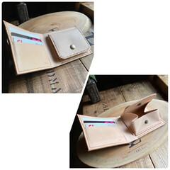 栃木レザー/財布/革細工/DIY/レザークラフト/雑貨/... シンプルな『二つ折財布』 このタイプの…(2枚目)