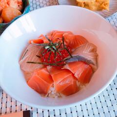 レシピ開発/レシピ/魚料理/丼ぶり/丼もの/おうちごはん/... [レシピ有り〜漬け丼のタレ] こんばんは…(2枚目)