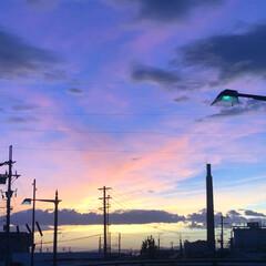 今日の夕日/ブルー