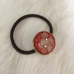 赤色/UVレジン/DIY/キャットタワー 赤色の髪飾り😊⭐️⭐️⭐️  赤色の好き…
