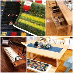 ギャベ/ギャッベ/コーディネート/絨毯/カーペット/ナチュラル/... 天然素材のギャベは夏も心地く、柄や色、手…