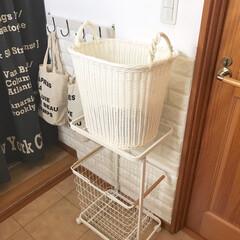 2段 ランドリーワゴン+バスケット トスカ tosca 3点セット 洗濯かご おしゃれ 山崎実業 | 山崎実業(掃除機)を使ったクチコミ「YAMAZAKIのランドリーワゴンを購入…」