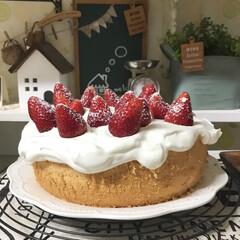mothersday/シフォンケーキ/手作りケーキ/おやつタイム/暮らし 今日は母の日なのでシフォンケーキを焼きま…(1枚目)